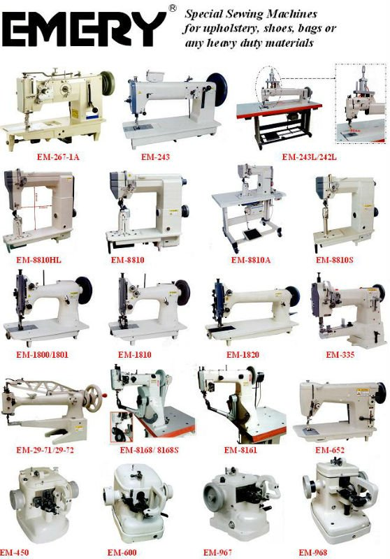 Special Sewing Machines for upholstery, shoes, bags or any heavy duty materials