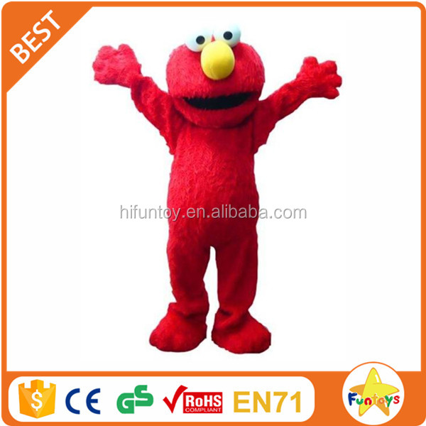 Funtoys CE Elmo Red Cookie Monster Adult Mascot Costume