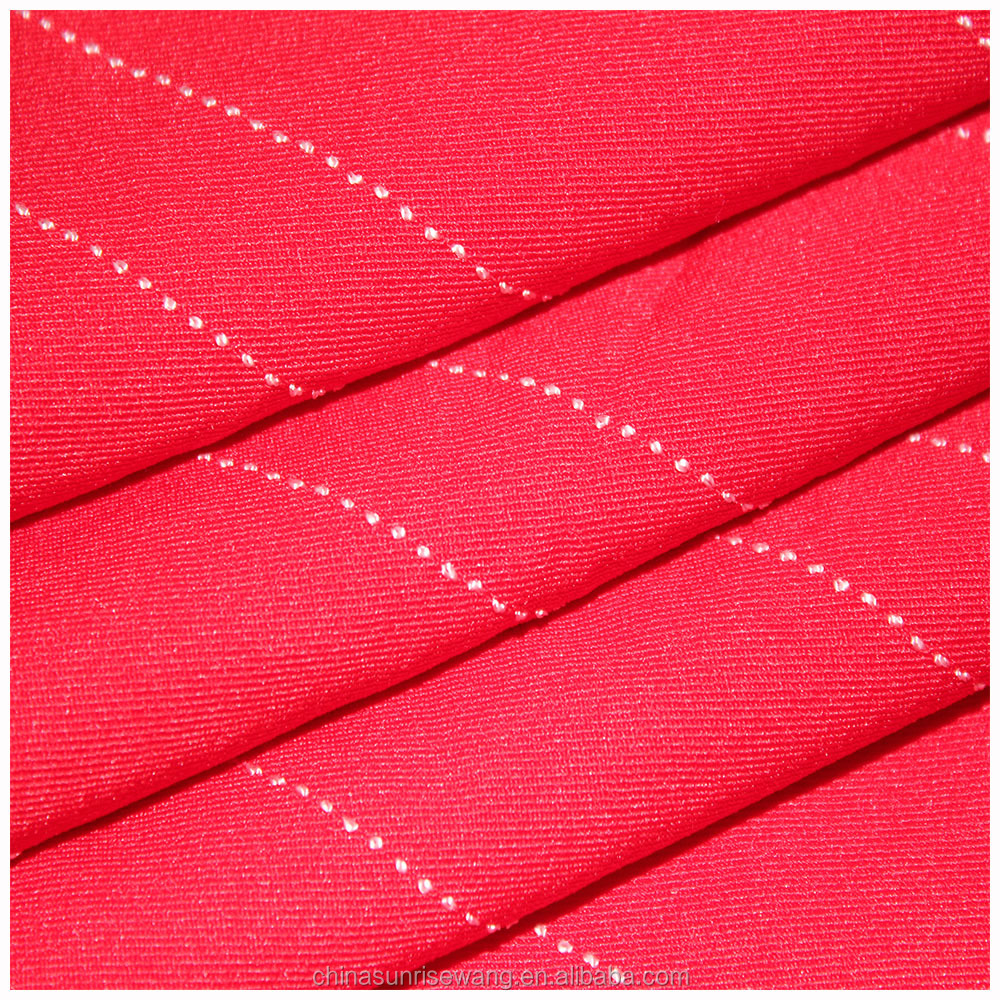 2016 fashion design polyester rayon stripe fabric for grement