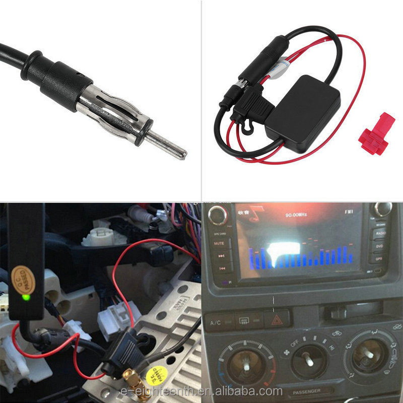 2016 new arrival Car Automobile Antenna Radio Signal Booster ANT-208 Amplifier