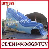2014 summer pool slide/wet slide/inflatable swimming pool slide
