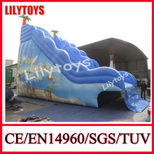 2014 summer pool slide/wet slide/inflatable swimming pool slide
