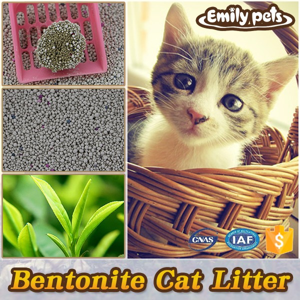 Scented Multiple Quickly Absorbed Bentonite Cat litter Green Tea