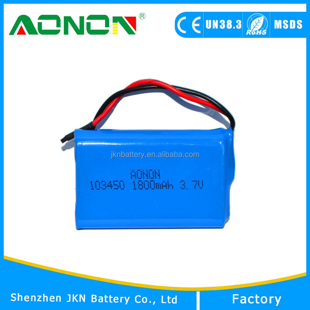 Li-polymer Type rechargeable lithium-ion battery 3.7v 1800mAh lion polymer battery