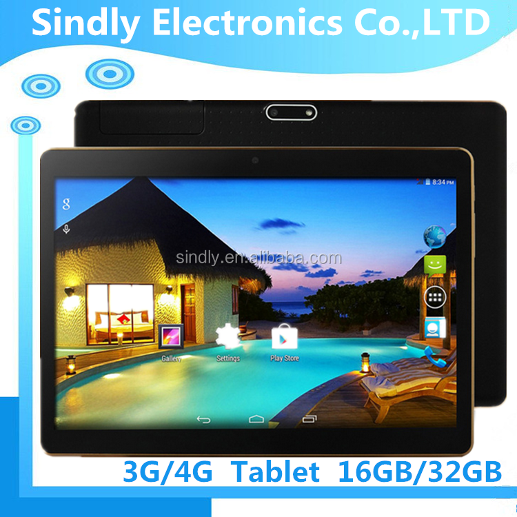 OEM 9.6inch MTK6582 Quad Core 3G Android 4.4 Dual SIM Tablet 16GB Memory Slim Body