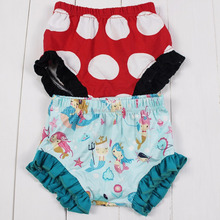 New design baby clothes boutique kids clothing girls mermaid bloomers