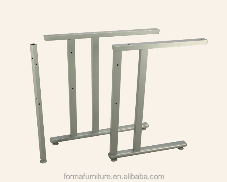 furniture parts office table legs powder coating in grey color metal desk legs 10008P4