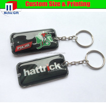 cheap custom print pvc led promotional key chain