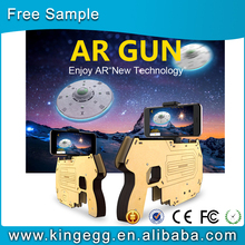 Augmented Reality hot selling 3D Aircraft shooting wood AR gun with bluetooth connection AR game toy