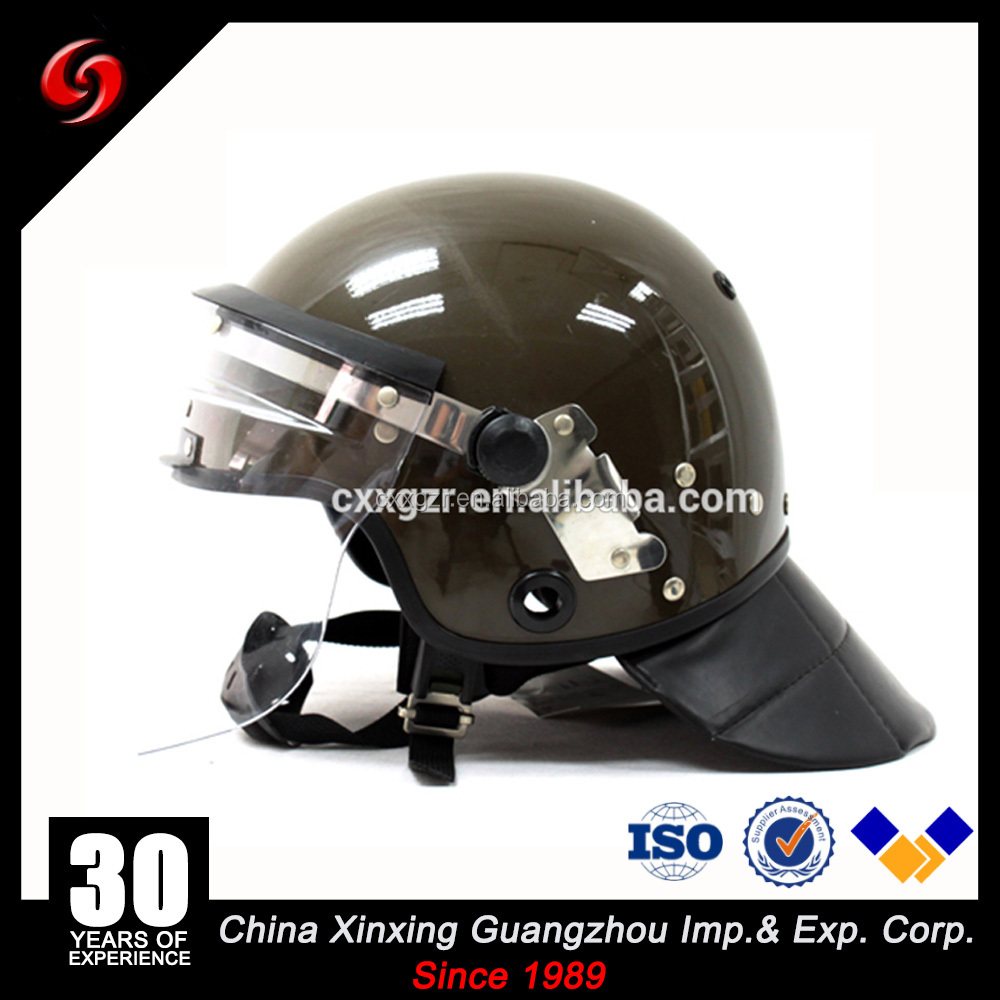 defence green ABS strong impact 127J small helmet police anti riot helmet European style for security