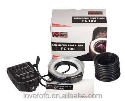 Meike Digital LED Macro Ring Flash Light FC100 Hot Shoe ISO Camera Photography