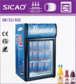 Beverage or beer display glass door fridge commercial use refrigerator