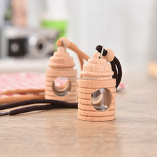 Beech wood material car fragrance hanging empty car perfume bottles