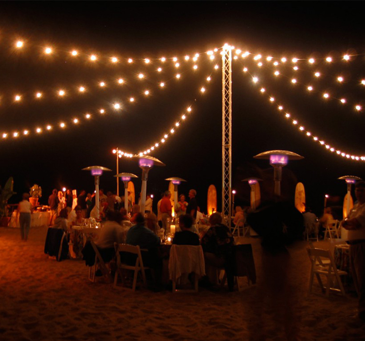 UL Listed 25FT G40 Globe Incandescent Patio Christmas Holiday Decorative String Lights Commercial for Outdoor Wedding Party