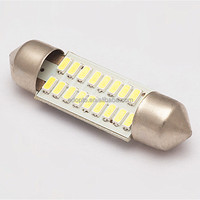 Aluminum housing lnterior dome roof reading car lights T10X39 18SMD 3014