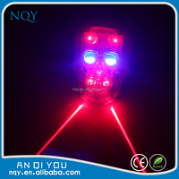 Red Skull led laser bicycle light tail light