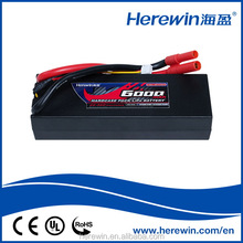 RC truck model 25C 7.4V 2S 6000mAh rechargeable lipo RC car battery