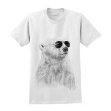 cool polar bear pattern tshirt/fashion fitness casual man tee shirt/alibaba China wholesale t-shirt