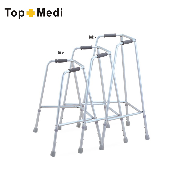 Three Size Available Aluminum Stair Climbing Adult Walker With Armrest