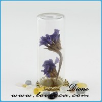 12mm Glass Cloche Dome Miniature with Flower Inside VI