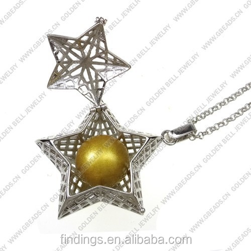 FN3199 Fashion design star locket necklace, bola Musical pregancy pendant, jewlery necklace wholesale