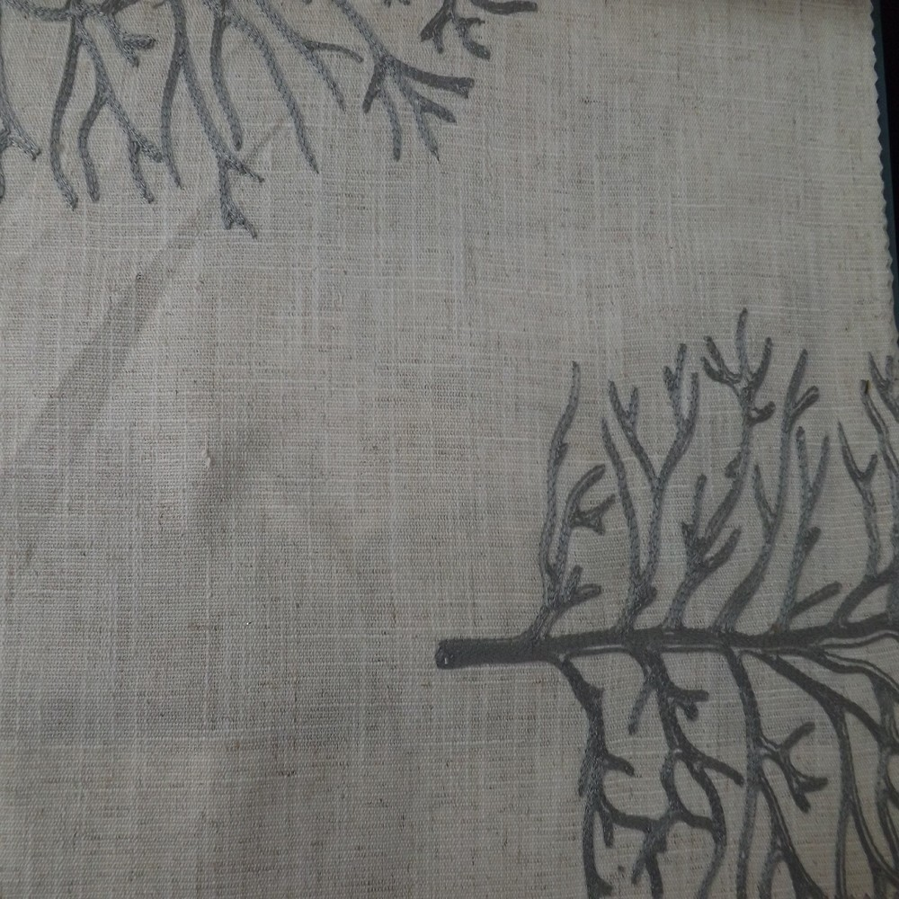 Good quality tree design embroidered pattern rustic curtains and drapes