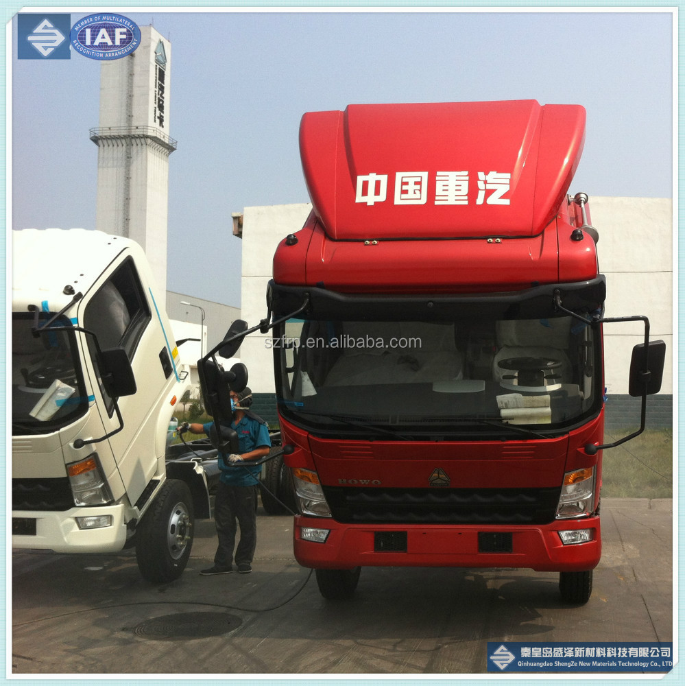 Fiberglass truck deflector/ FRP GRP automobile SMC products/ fiberglass auto parts