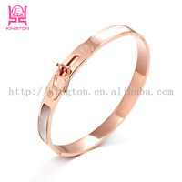 2015 new ceramic rose gold lock bangle for girl
