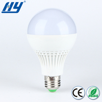 Good three colors lighting products use at home or office or shopping mall led bulb 9w 3w,led bulb lighting