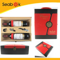 Packaging Wine Wooden Box with Handle