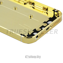 For iphone 5 24k gold plating back cover withl logo and buttoms