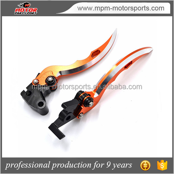 CNC Aluminum Motorcycle Racing Adjustable Blade Brake Clutch Levers For KTM