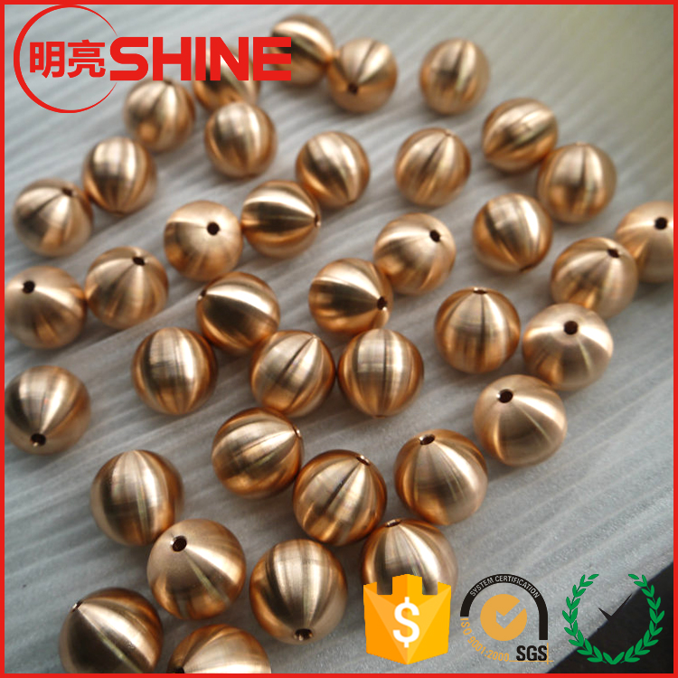 OEM 25mm 25.4mm 28mm 30mm 32mm 35mm 38mm 40mm perforated drilled solid brass balls with hole