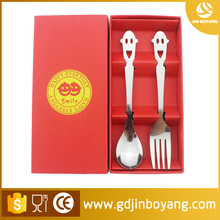 Spoon fork camping stainless steel tableware Stainless steel Cutlery set Smiling face Spoon and fork Gift Set