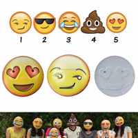 2016 New Hotsale Cartoon Cute 3D Expression Mask Kids Laughing Tears Emoji Party mask