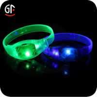 "Ideal 8"" Flashing Sound Activated Led Bracelet For Concerts"