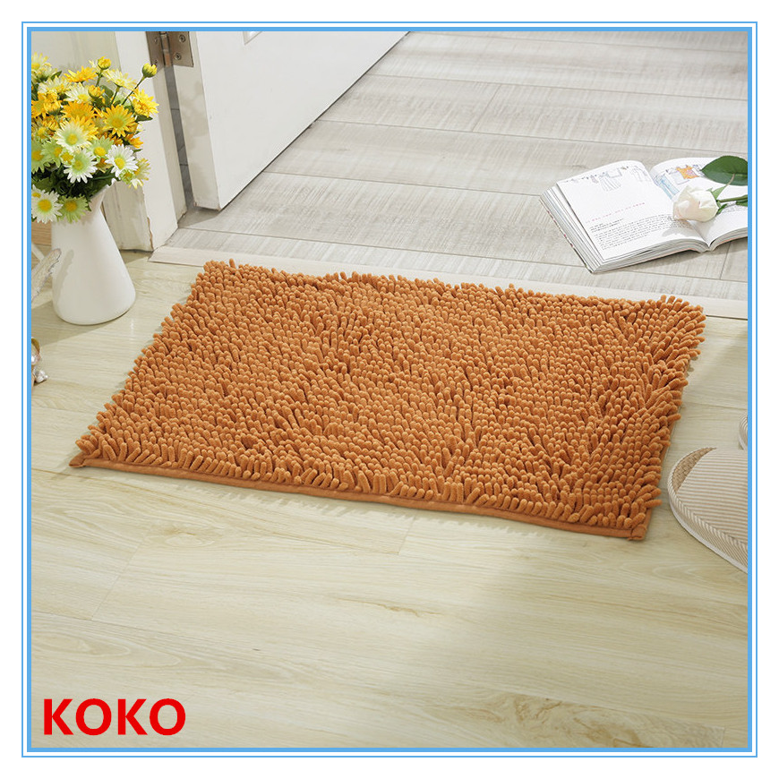 customized chenile bath rug for bathroom 50*80cm
