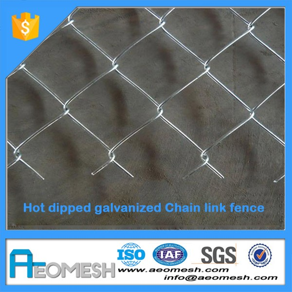 Factory Sale Galvanized Steel Rolling Gate Chain Link Fence For Construction Site