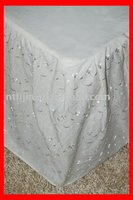 poly cotton Fitted bedskirt (bed skirt)
