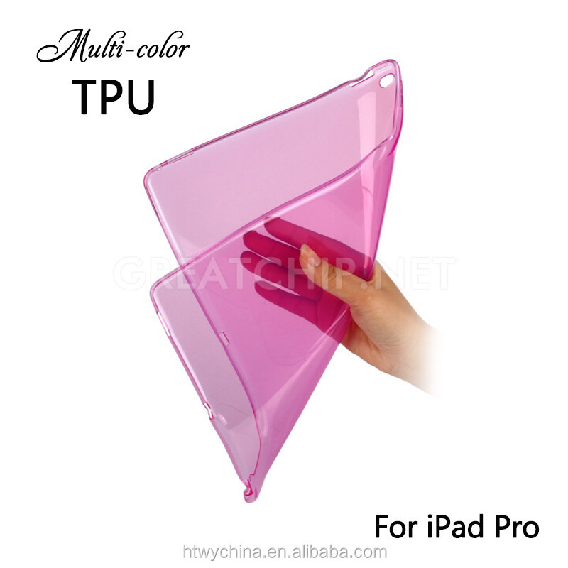 12.9 inch Soft clear TPU Case for iPad Pro slim Cover Protective Housing cases for ipad pro