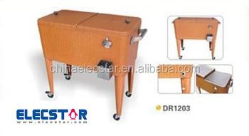 Beverage Cooler Cart/Patio Ice Cooler/Rolling Cooler/ Wagon Serving Cart