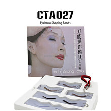 Plastic Permanent Makeup Stencils Eyebrow Shaping Bands Kits