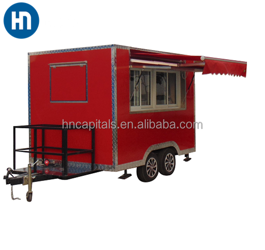 Factory price mobile kebab refrigerated bar,street fast food trailer, food van for sale