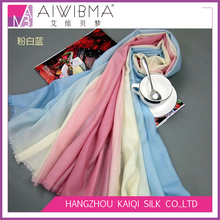 China suppliers stock long wool 3 gradient color wool cape shawl winter wear wool shawl