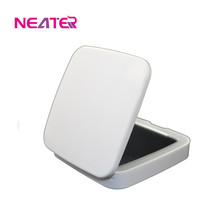LED Square folding vanity table with lighted mirror makeup mirror