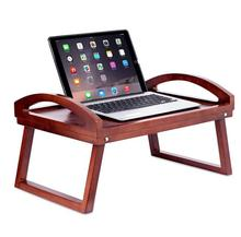 Wooden Lap Desk Non Slip Serving Tray Bed Tray