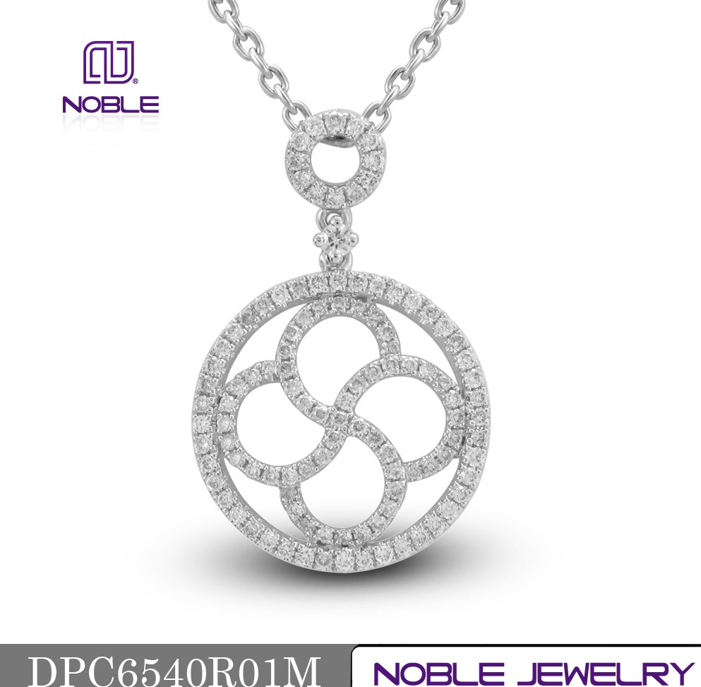 New solid 18K rose gold plated jewelry diamond pendant