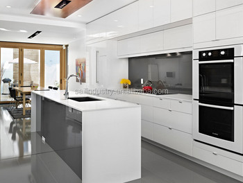 Prefab Wood Kitchen Cabinet with Simple Design