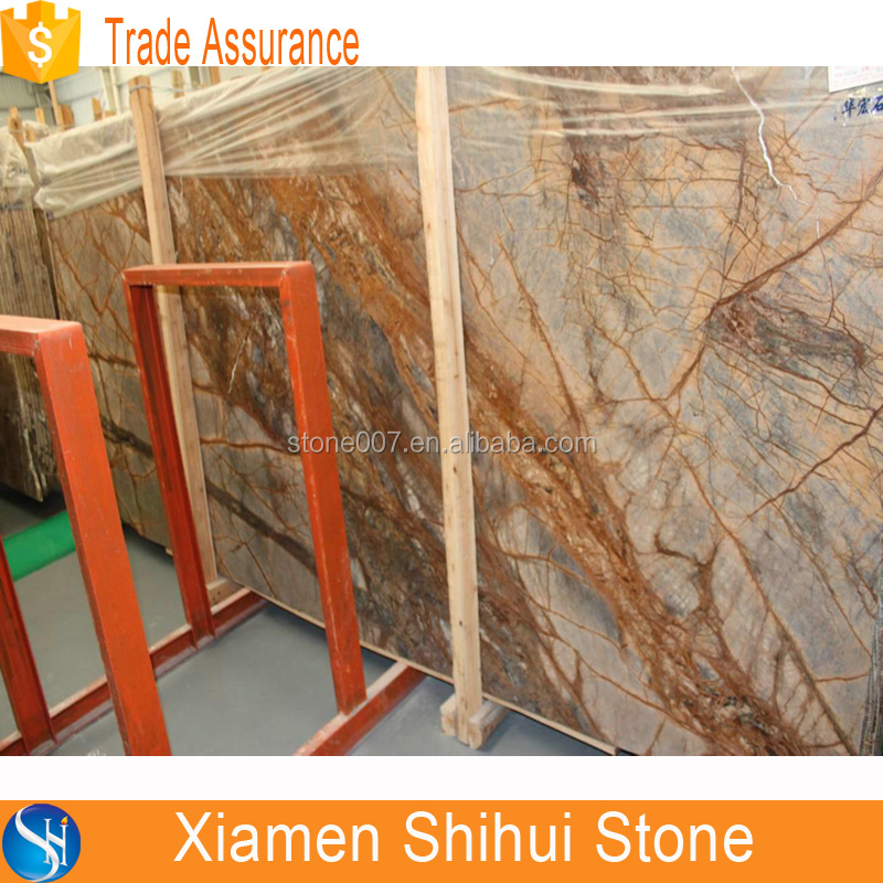 rainforest marble, golden brown marble