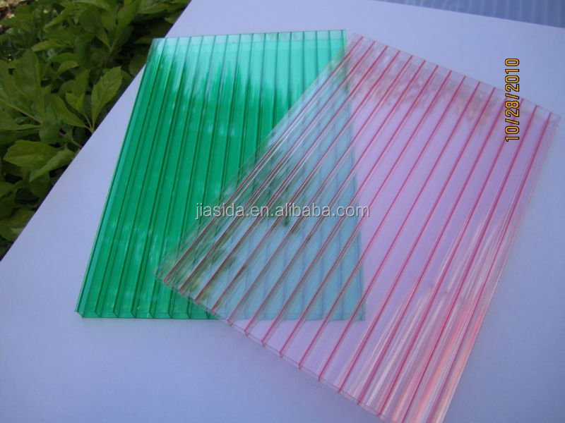 solar colored 8mm hollow polycarbonate sheet